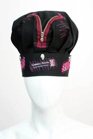 Black punk hat