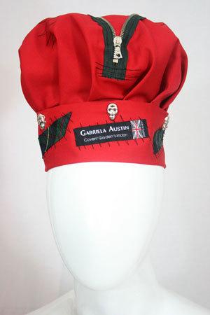 Red punk hat
