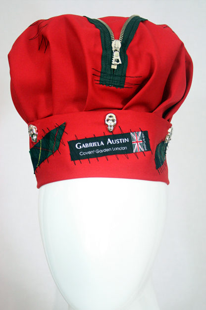 punk hat - red with green tartan