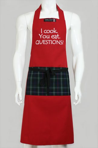 I cook. You eat. QUESTIONS?